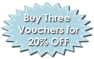 Buy three vouchers for 20% off